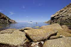 Bathing in Sardinia (KenHensley) Tags: sardegna sea summer italy seascape seaside rocks sardinia holydays asinara
