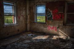 Greener On The Otherside (Linda O'Donnell) Tags: abandonedplacesinamerica newjersey urbex hdr exposurebracketing nikond750 exploreusa testingfacility windows graffiti