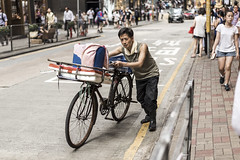 Streets of Hong Kong (DiagonSally) Tags: hongkong travel tourist tourism asia asian city cities china chinese crowded people person bicycle street streetphotography photography hong kong