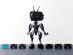 YESman: Your Entertainment System (Alex Kelley) Tags: lego moc robot toy design action figure mech mecha yesman
