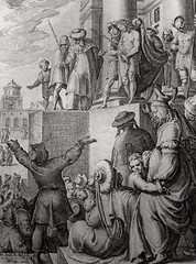 Phillip Medhurst presents John's Gospel: Bowyer Bible print 5562 Jesus is condemned John 19:5 Gheyn (Phillip Medhurst) Tags: john johnsgospel gospelaccordingtojohn gospel jesus christ jesuschrist bowyerbible bible bibleillustration gheyn pilate mob crucify
