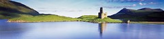 Island Loch (rubberducky_me) Tags: scotland uk europe castle loch lake water green grass hills linhoftechnorama film velvia