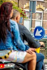 Riding together (Dutch_Chewbacca) Tags: together riding scooter man woman couple vague bike color colours den bosch duketown denbosch noordbrabant brabant netherlands nederland europe europa life