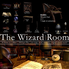 22769 ~ [bauwerk] The Wizard Room for Fantasy Gacha Carnival (manuel ormidale) Tags: wizard magic candle bookshelf magicbook wand wizardwand broomstick wizardbroomstick 22769 22769~bauwerk fantasygachacarnival fgc gacha gachaevent gachagame caulderon pots hourglass mirrorball pacopooley carafe book mesh furniture indoor indoorfurniture indoordecoration roleplay