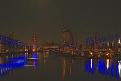 Bremerhaven at  Night (heiko.moser ( 9000000 views )) Tags: night bremerhaven nacht longexposure color farbig dunkel outdoor entdecken eyecatch discover deutschland city licht langzeitbelichtung light lightning heikomoser