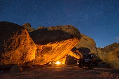 Man Cave (Brian Clark Photo) Tags: alabamahills california astrophotography longexposure outdoors nature 4runner camping campfire