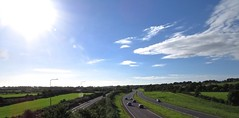 3871 Skyscape over Ynys Mn - Anglesey (Andy panomaniacanonymous) Tags: 20160902 anglesey bbb blue ccc clouds eee eryri fff fields hedges hhh landscape llanfairpg llanfairpwllgwyngyll llanfairpwllgwyngyllgogerychwyrndrobwllllantysiliogogogoch lll mmm mountains sky skyscape sss ynysmon