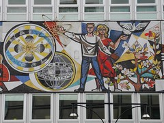 Communist Era Mosaic in Berlin (shannonrossalbers) Tags: alexanderplatz eastberlin germany berlin gdr art communist propaganda mosaic shannonrossalbers