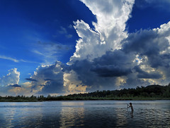 IMG_0040+0045 ...and Summer seems so far away (pinktigger) Tags: blue summer italy water clouds river italia child fiume friuli tagliamento tiliment villuzza