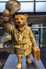 Sherlock Bear by designed by Benedict Cumberbatch (No 34) (sarahOphoto) Tags: bear city uk england london peru hat statue wall museum canon movie unitedkingdom coat united kingdom indoors trail paddington inside paws briefcase 34 marmalade sherlock 6d toggle benedict duffle nspcc cumberbatch paddingtontrail