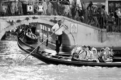 Venezia (filippi antonio) Tags: venice ponte gondola acqua venezia biancoenero citt veneto gondoliere