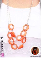 Sunset Sightings Orange Necklace K1 P3110-1