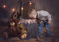 (johnnyvintage) Tags: wood portrait baby boys kids studio children nebraska brother rustic newborn kansas setup