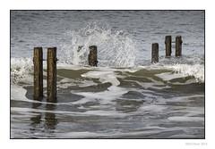 Mooring Posts (Seven_Wishes) Tags: sea texture wave spray coastal splash tidal breakwater whitleybay mooringpost canonef100400mmf4556lis canoneos1dmarkiv newcastleupontynenortheast