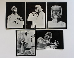 Negatives from the Famous Monsters Printing Set (Yankee 1960's) (Donald Deveau) Tags: monsters yankee negatives monstermovie vintagetoy famousmonsters vintagemonster photoprintingset