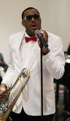 Glen David Andrews at Irvin Mayfield's 37th Birthday Party, New Orleans Jazz Market, Sunday, December 21, 2014
