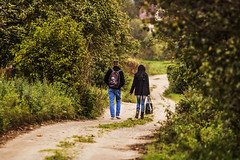 Two people (Virgen photography) Tags: autumn trees men canon way women couple together lithuania followme 2014 walkig radviliškis canon650d virgenphotography