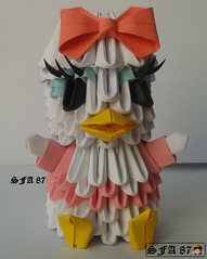 Daisy Duck Origami 3d (Samuel Sfa87) Tags: comics paper duck 3d origami comic arte crafts cartoon craft disney donald sfa daisy block carta artisan margherita papercraft paperino cartone cartoni paperina arteempapel blockfolding origami3d sfaorigami sfa87