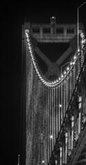 bridge lights final night (pbo31) Tags: sanfrancisco california bridge winter blackandwhite black northerncalifornia night dark march nikon baybridge bayarea 80 southbeach d800 2015 rinconhill bridgelights boury pbo31