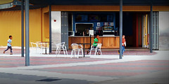 coney island P1050631-1080.jpg (-i-) Tags: nyc blue boy summer newyork fall beach boys yellow kids race table coneyisland play counter diner run boardwalk shack brightonbeach tiling edwardhopper gardenchair hopperesque arating