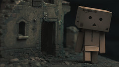 Danbo ruins 2 (Alden M) Tags: japan amazon cardboard danbo boxrobot yotsubakoiwai danboard cardbo danboru danbomini canon28mm18lens bmpcc bmpccsuper16mmsensor