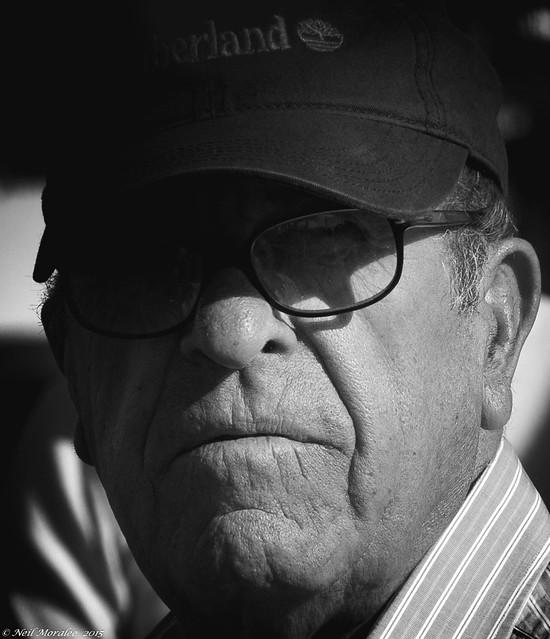 barcelona street old portrait blackandwhite bw white man black monochrome face hat mono glasses spain nikon candid uncle grandfather neil mature timberland 18200mm moralee d7000 neilmoralee