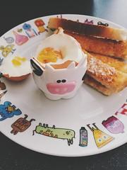 (purplelime) Tags: apple breakfast cow egg iphone vscocam appleiphone6