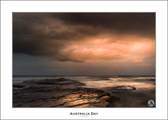 Australia Day (John_Armytage) Tags: seascape reflection clouds sunrise dawn focus rocks australia textures nsw australiaday northernbeaches bungan leefilters bunganbeach visitnsw johnarmytage exploreaustralia australiaday2015