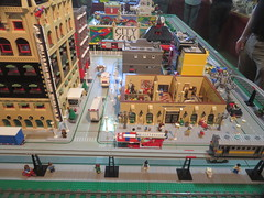 MOAH Winter Show 2014-2015 (124) (Last pass) (origamiguy1971) Tags: layout town lego mosaic spiderman trains superman batman palo alto ghostbusters moc walle moah baylug esseltine origamiguy origamiguy1971
