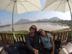 Photo de 14h - Pause déj devant le Mékong (Thaïlande - Chiang Khan) - 23.01.2015