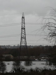 Soft Footing (mdavidford) Tags: water thames train flooding railway pylon powerlines wires oxford dairycrest