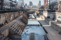 Cheonggyecheon (Styggiti) Tags: travel winter urban asia korea february southkorea 2015