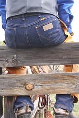 WRANGLER COWBOY (AZ CHAPS) Tags: ranch leather spurs cowboy boots wranglers chaps corral