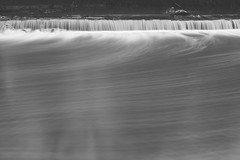 February 26, 2015 Weir - 2 (smillsishere) Tags: longexposure light white painterly black water blackwhite lowlight soft long exposure fuji low smooth surreal blurred clean fujifilm dreamy f80 creamy 16mp xtrans x100s
