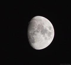 Waxing Gibbous (cnjgp7) Tags: moon night nikon olympus nikkor gibbous manualfocus f4 waxinggibbous afterdark omd 200mm m43 em10 primelens nikkor200mmf4 nikkor200mmf4ai legacylens micro43 microfourthirds omdem10