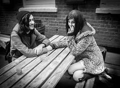 Lovebirds (myonelife.today) Tags: street uk portrait bw london love blackwhite couple documentary romance shoreditch lovebirds