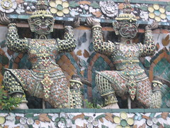 Guardian Demons Holding up Temple Bangkok