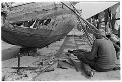 Fixing the boat,Varanasi. (toasterjones) Tags: wood india river temple boat prayer holy varanasi carpenter ganges ghats banares baranasi poojah
