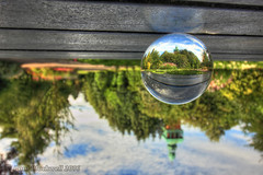 Upon reflection (pblackwell27) Tags: crystalball loughborough queensparkloughborough park carillon uk britishparks crystalballphotography eastmidlands eastmids reflection reflected