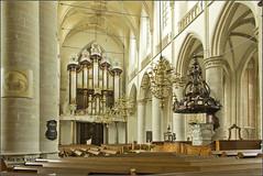Orgel en preekstoel (Ria Rotscheidt) Tags: dordrecht oud old stad city kerk church monument interieur