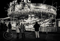 London Nov 2015 (7) 064 - Winter Wonderland in Hyde Park (Mark Schofield @ JB Schofield) Tags: park christmas street city winter england white black london monochrome canon fairground carousel hyde oxford rides nightlife wonderland stalls 5dmk3