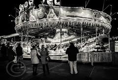 London Nov 2015 (7) 064 - Winter Wonderland in Hyde Park (Mark Schofield @ JB Schofield) Tags: park christmas street city winter england white black london monochrome canon fairground carousel hyde oxford rides nightlife wonderland stalls 5dmk3