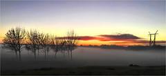 Amanece en la ruta. (Ova.) Tags: niebla fog iphone6s sunrise winter invierno amanecer