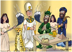 Exodus 01 - Hebrews oppressed - Scene 02 - Pharaoh's plan 45 dpi col (Martin Young 42) Tags: people king egypt plan pharaoh hebrew exodus wiseman magician exodus010810