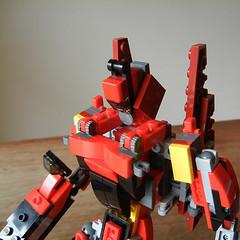 DSCN6885 (alfa145q_lego) Tags: lego legocreator redcreatures 31032 mecha vehicletransporter 31033 rebuild alternate