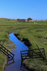 Disrepair (smitchelrific) Tags: coast countryside gate stone barn ruin stream england alnmouth