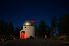 PMO in Moonlight 2 (Wolfram Burner) Tags: sky moon mountain pine night oregon education university science full observatory astrophotography uo physics astronomy burner uofo universityoforegon academics uoregon wolfram pmo