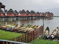 Hu Pin Hotel (Argentem) Tags: hupinhotel lakeinle myanmar lake mosquitos chalets stilts canoes