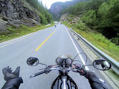 Hello to other MC. (topzdk) Tags: norway mc motorcycle honda bmw summer 2016 motorcycleride rysstad brokke