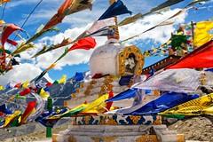 Kunzum Prayers (ZeePack) Tags: mountains hills colorful windy prayer flags mountain pass religious fluttering chorten 5dmarkiii kunzum lahaulandspiti canon india himachalpradesh buddhist tibetan outdoor milestoneenterprise milestoneenterprisein